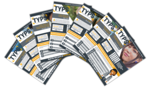 TYPS Sheets fanned out